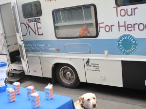 Hangin Our with my new friends at the North Shore Animal League Van