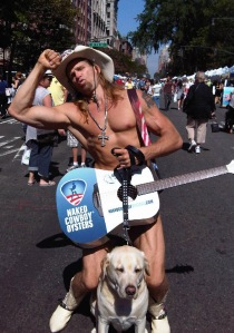 Me and new friend the Naked Cowboy